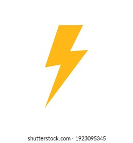 lightning bolt icon of color style design vector template