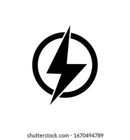 Lightning bolt icon design vector