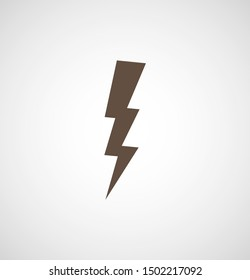 Lightning bolt icon. Lightning, electric power vector logo. Lightning bolt illustration isolated vector. Lightning bolt flat icon. Flash thunderbolt. Lightnings bolts icon EPS 10.