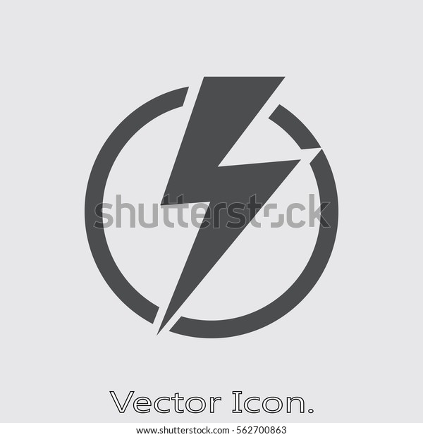 Lightning Bolt Icon Isolated Sign Symbol Stock Vector Royalty Free 562700863