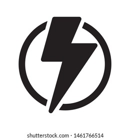 Lightning bolt icon. Modern icon design. Modern icons for mobile or web interface.