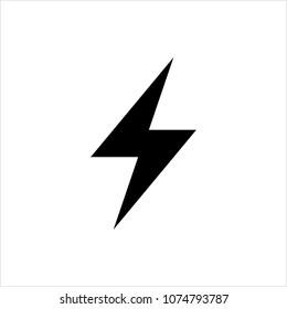 Lightning Bolt Icon, Sky Lightning Bolt Icon Vector Art Illustration