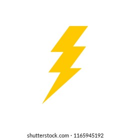 Lightning bolt icon. Thunderbolt. Vector