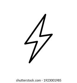 lightning bolt line icon design vector template