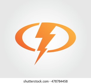 Lightning Bolt Logo Icon For Websites, Apps And Project Identity