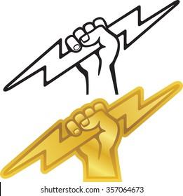Lightning bolt logo or symbol for electrician