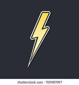 lightning bolt pop art vector illustration