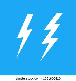 lightning bolt set pop art cartoon flat vector illustration