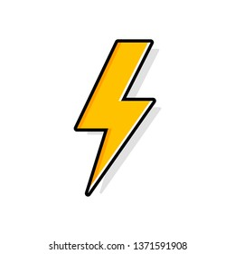 Lightning bolt, thunder bolt, lighting strike expertise flat vector icon for apps and websites