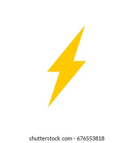 Lightning bolt vector icon