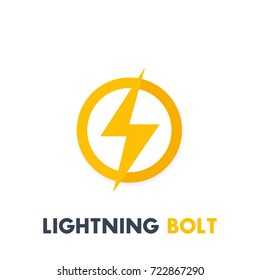 Lightning bolt vector sign, icon