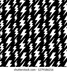 lightning bolts pattern in black and white