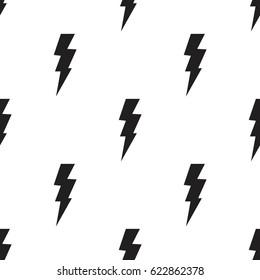 Lightning bolts, thunderbolts seamless pattern vector illustration
