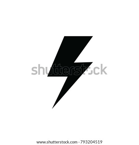 lightning charging power thunderbolt vector icon for industrial