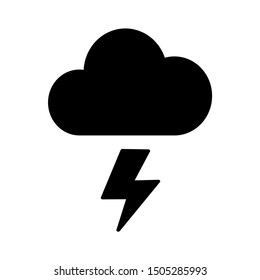 lightning cloud icon - From forecast, Climate and Meteorology icons, widget icons