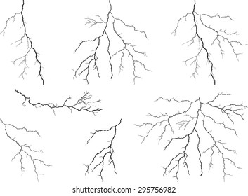 Lightning collection isolated on white