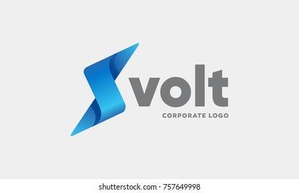 Lightning Corporate Logo, Volt Icon