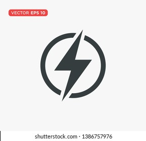 Lightning Electric Icon Vector Illustration