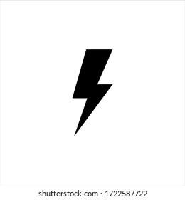 Lightning Electric Icon Vector Illustration