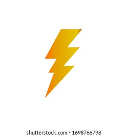 Lightning electric icon vector logo