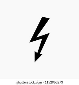 Lightning, electric power vector logo design element. Energy and thunder electricity symbol concept. Lightning bolt sign in the circle. Flash vector emblem template. Power fast speed