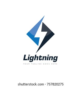 lightning, electric, thunder, logo design template