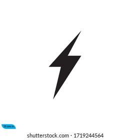 lightning icon design vector illustration