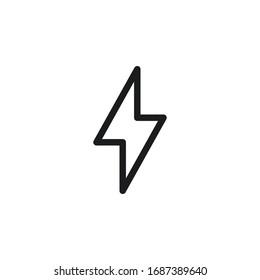 lightning icon design vector symbol