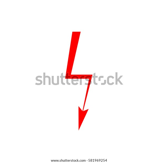 Lightning icon, flat design template, vector illustration