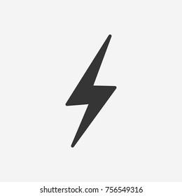Blitzsymbolgrafik einzeln auf Vektorsymbol