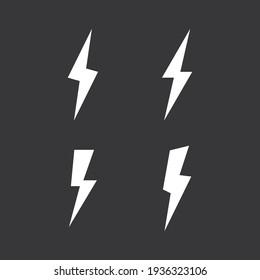 Lightning icon on grey background