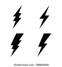 Lightning icon set. Vector