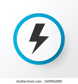 Lightning icon symbol. Premium quality isolated flash element in trendy style