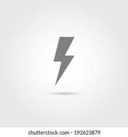 Lightning icon - Vector