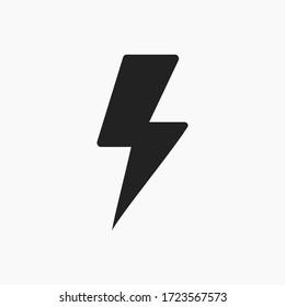 Lightning icon vector. Flash sign