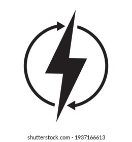 Lightning icon. vector illustration sign