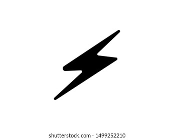 Lightning icon vector isolated. luxury and stylish flash icon black color silhouette.