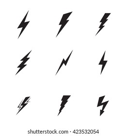 Lightning icons set