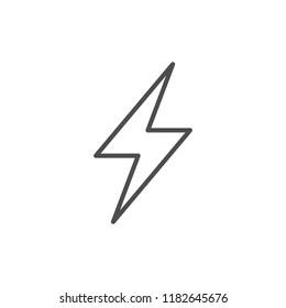 Lightning line icon