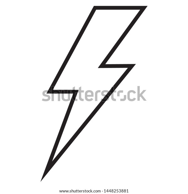 lightning line icon design black thunder stock vector royalty free 1448253881 shutterstock