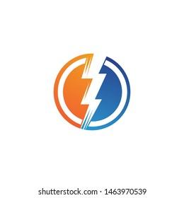 lightning logo icon and symbols