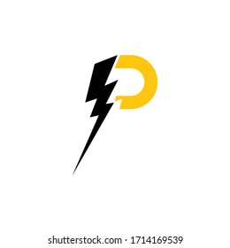 Lightning Logo Template vector flat design