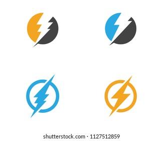 Lightning Logo Template vector icon illustration design