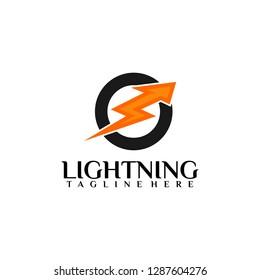 Lightning Logo - Vector
