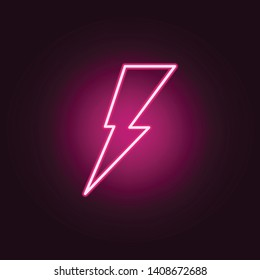 lightning neon icon. Elements of web set. Simple icon for websites, web design, mobile app, info graphics