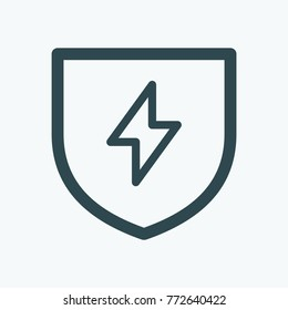 Lightning protection system isolated vector icon