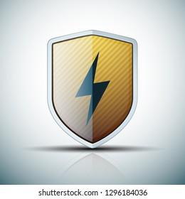 Lightning Shield sign illustration