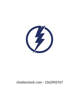 lightning thunder bolt electricity logo design template