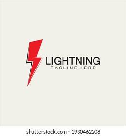 lightning thunder bolt electricity logo design template
