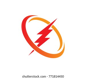 lightning thunderbolt electricity vector logo design